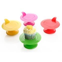 Roterande Cupcake-Piedestal, rosa