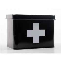 Medicin-låda, svart