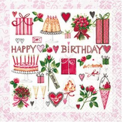 A Lovely Birthday, 20 st servetter