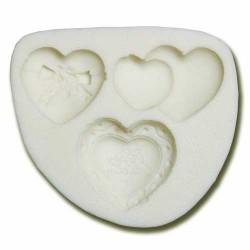Hjärtan, 3 olika (silikonform)