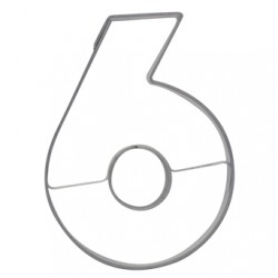 Siffran 6 o 9, pepparkaksform