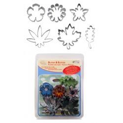 Blommor och blad, 6 st utstickare