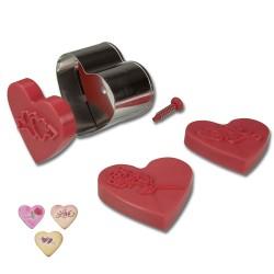 Hearts, utstickare med embosser