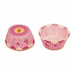 Baby Shower (rosa), 50 st muffinsformar