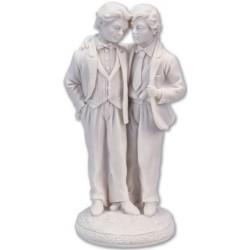 Två män, bröllopspar