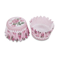 Pink Roses, 100 st muffinsformar