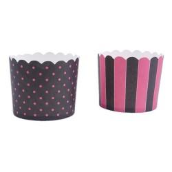 Muffinskoppar , 12 st (svart-rosa)