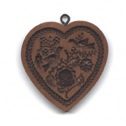 Rose in a heart, mönsterpress