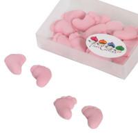 BF 20200807 - Rosa babyfötter, 8 par (sockerpasta)