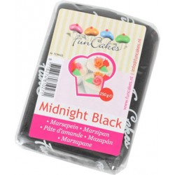 Marsipan, svart 250g (Midnight Black)