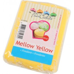 Sockerpasta m vaniljsmak, gul 250g (Fun Cakes)