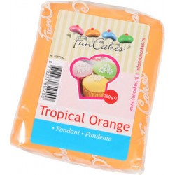 Orange sockerpasta m vaniljsmak, 250g (Tropical Orange)