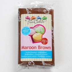 Brun sockerpasta m vaniljsmak, 250g (Maroon Brown)