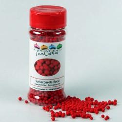 Röda sockerpärlor, 4 mm (Red)