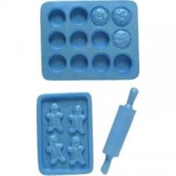 Bakmotiv (3 olika), silikonform