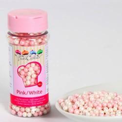 Rosa och Vita (4 mm), 60g mjuka sockerkulor