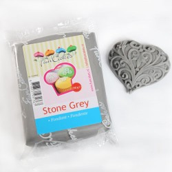 Sugarpaste m vaniljsmak, grå 250g (Fun Cakes)