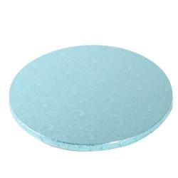 Rund, ljusblå (ca 25 cm)