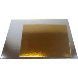 Kvadrat, 25 cm (silver/guld) 3 st