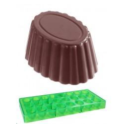 Cuvette Oval, pralinform (grön, hård plast)