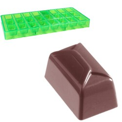 Ballotin, pralinform (grön, hård plast)
