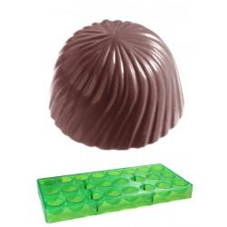 Stripy, pralinform (grön, hård plast)