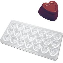 Hjärta, pralinform (hård plast)