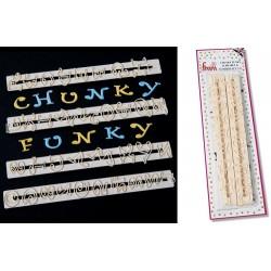 Bokstäver o Siffror, Chunky Funky (versaler)