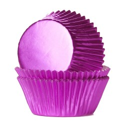 Foliemuffinsformar - Rosa (Hot Pink), 24 st