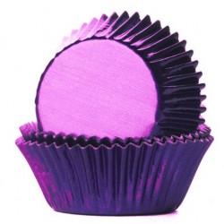 Foliemuffinsformar - Lila (Purple), 24 st
