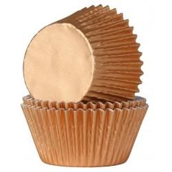 Bronze, 24 st muffinsformar (folie)