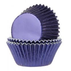 Foliemuffinsformar - Blå (Navy Blue), 24 st