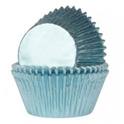 Foliemuffinsformar - Blå (Baby Blue), 24 st