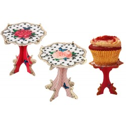 Rose, cupcake-piedestal (2 st)