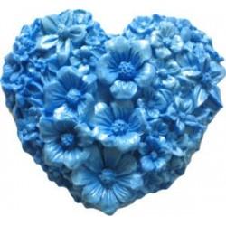 Blomsterhjärta, silikonform