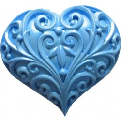 Filigree Heart, silikonform