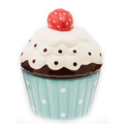 Cupcake, blå burk