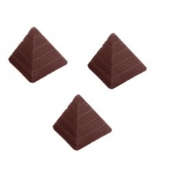 Pyramid, pralinform (hård plast)