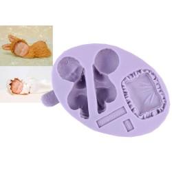 Baby på kudde, silikonform