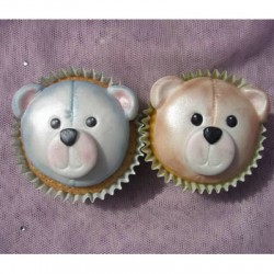 Nalle till cupcakes, silikonform