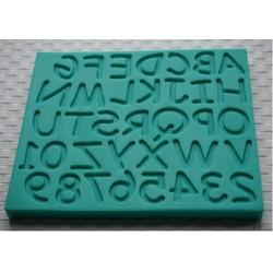 Bokstäver, silikonform (KBK)