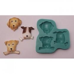 Hundar (3 olika), silikonform