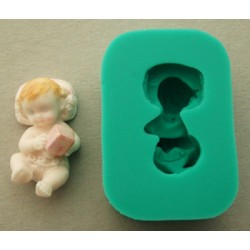 Bebis med kloss (3D), silikonform