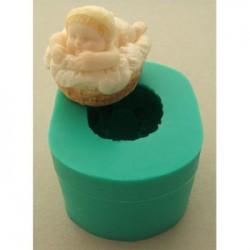 Bebis i korg (3D), silikonform