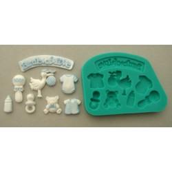 Baby dekorationer (pojke), silikonform