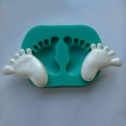 Babyfötter, silikonform