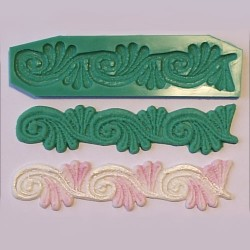 Scroll Lace, silikonform