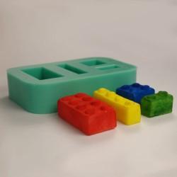 Legobitar, silikonform