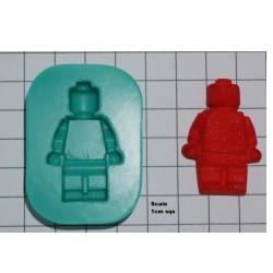 Legogubbe, silikonform (KBK)