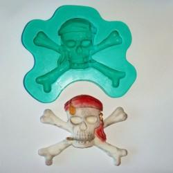 Pirat dödskalle, silikonform